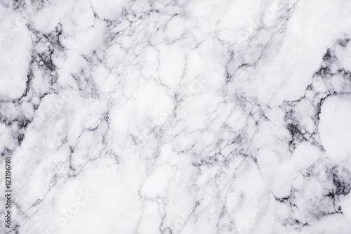 Canvas Print White marble texture and background.