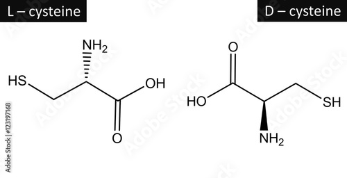 molecular structure of l cysteine and d cysteine buy this stock