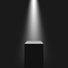 Pedestal With Light Source, Vector Illustration.