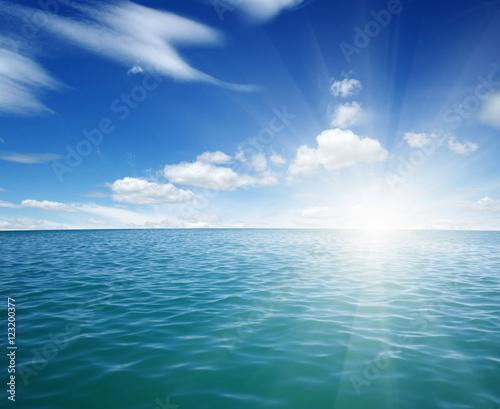 Poster Mer / Ocean Blue sea and sun