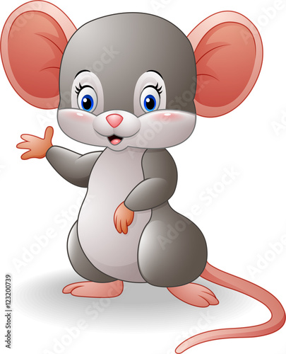 Cartoon Mouse Waving Hand Buy This Stock Vector And