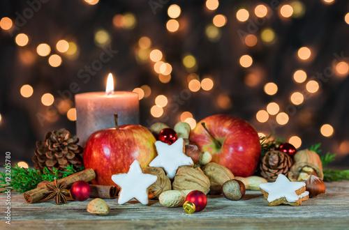 Cuadros en Lienzo Weihnachtsstimmung Lichter Weihnachten Advent Hintergrund Glitzern Stimmung