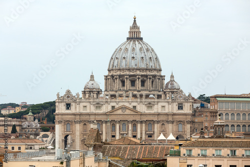 Photo  Vatican and  Basilica of Saint Peter seen from Castel Sant'Angelo