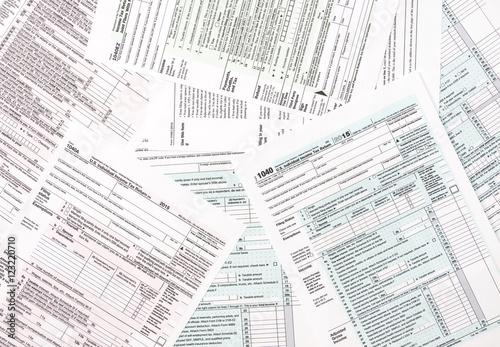Tax forms as background - fototapety na wymiar