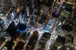 Aerial view from helicopter of Midtown, Times Square, New York, USA