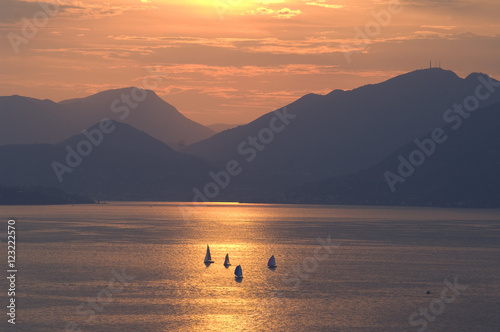 Photo  Sonnenuntergang, Gardasee