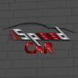 Speed car logo design, vector illustration. Abstract design concept automotive topics. Creative sport icon.