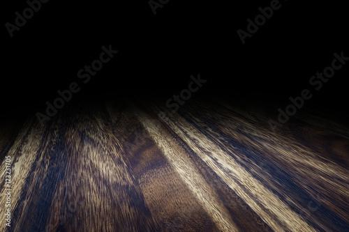 dark brown wood floor texture. Dark brown Plank wood floor texture perspective background for d