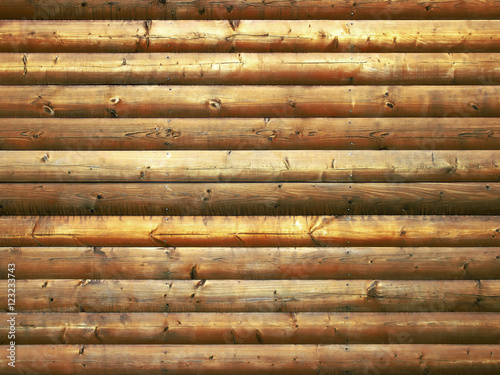 Weathered wooden logs with natural pattern grunge background Poster