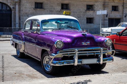 Türaufkleber Autos aus Kuba Kuba - Oldtimer in Havanna