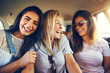 canvas print picture Laughing affectionate female friends