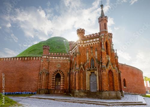 Fototapeta Kosciuszko mound surrounded by old fortifications in Krakow, Pol obraz
