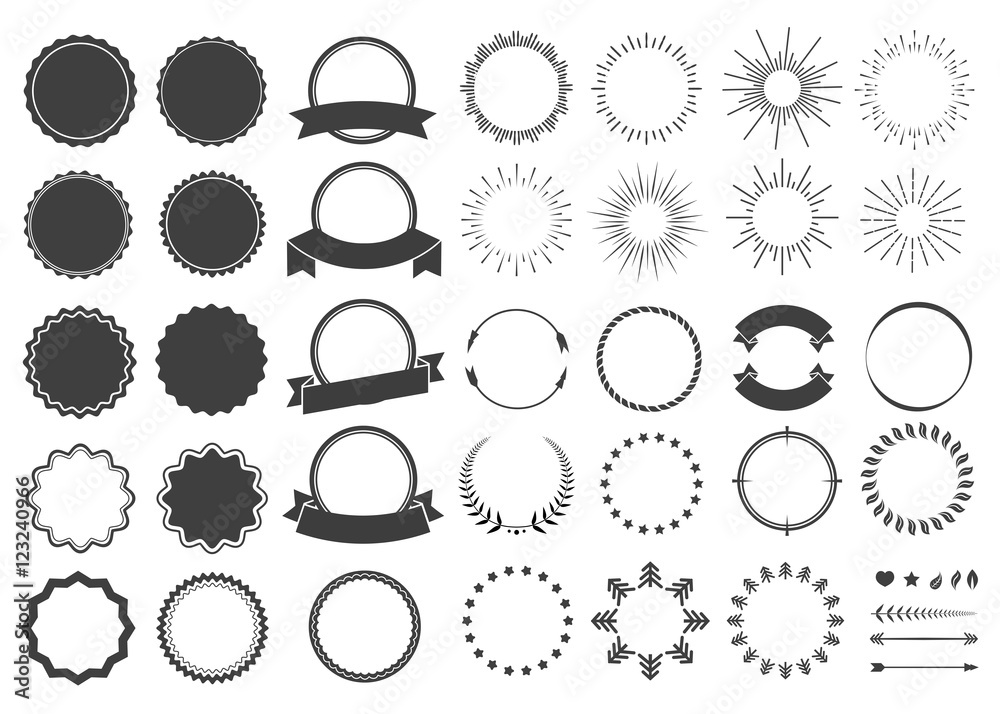 Fototapety, obrazy: Element design collection for label and logo. Design elements. Vector illustration