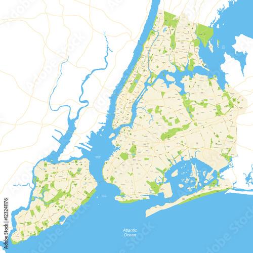Photo  New York City Map Full - vector illustration