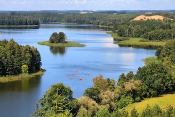 Polska krajobraz - Mazury jeziora region