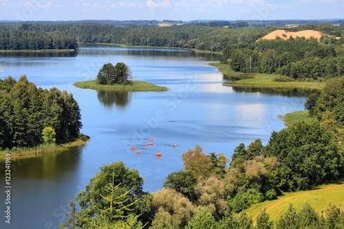 Obrazy na płótnie Canvas Poland landscape - Mazury lake region