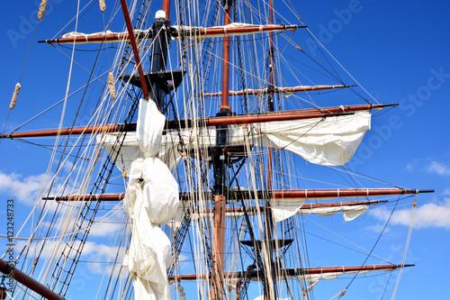 Fotografie, Obraz  Mast and yardarm closeup of a tall ship