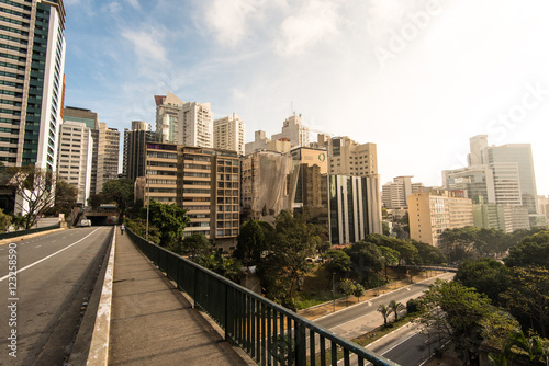 Sao Paulo City Downtown by Sunrise