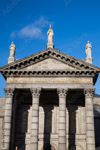 Photo  The exterior of St Audoen's church in Dublin City, Ireland