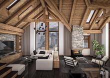 3D Rendering Of  Living Room O...