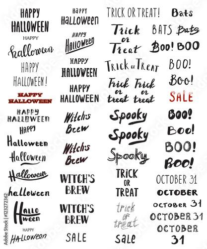 Fotografia, Obraz  Halloween poster with text