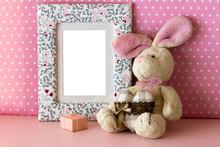 Photo Frame With Teddy Rabbit