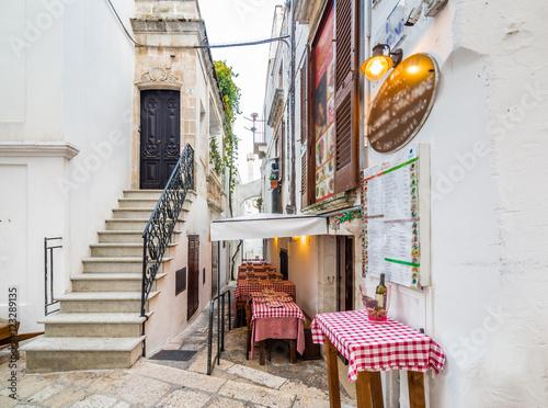 white houses of village in Apulia