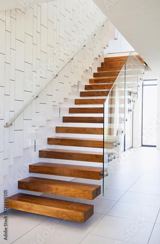 Obraz na płótnie wood stairs interior