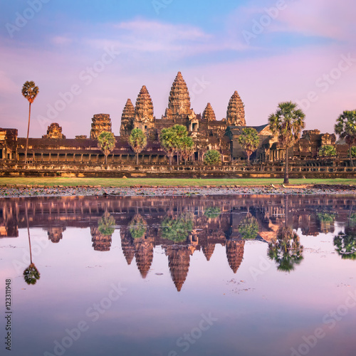 Wall Murals Temple Angkor Wat temple at sunrise, Siem Reap, Cambodia