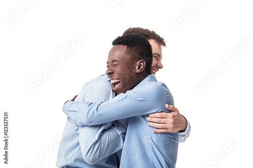 Fotografie, Obraz  business men happy embracing