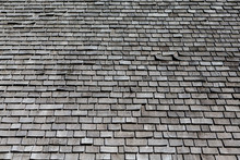 Grey Wood Shaker Roof