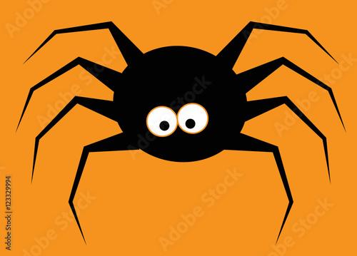 Fotobehang Draw Halloween Spider