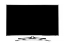 Big Led Tv Isolated On White B...