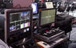 Television Broadcast Gallery. .button on the control panel television equipment