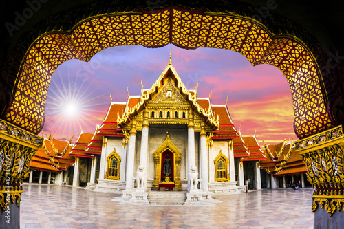 Wat Benchamabophit,Bangkok thailand Canvas Print