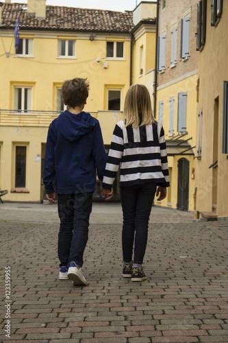 Fotografie, Obraz  fratello e sorella per sempre