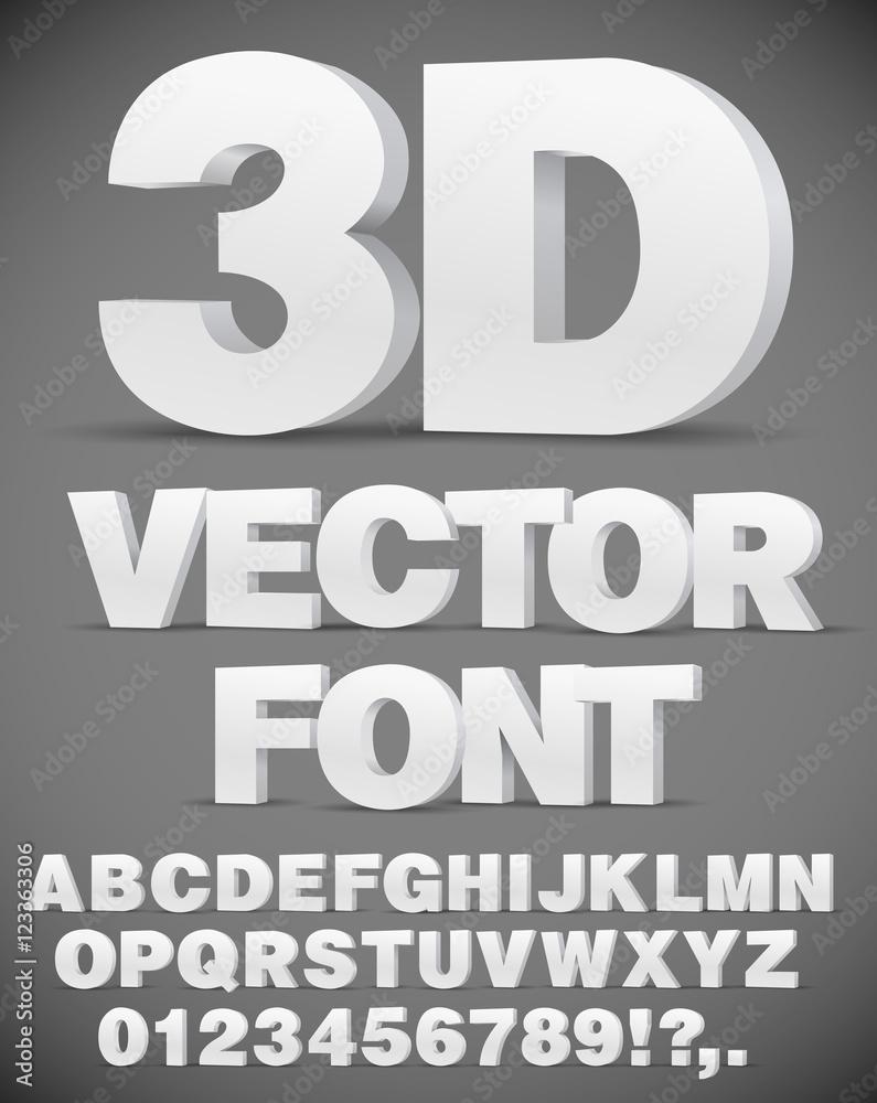 Fototapety, obrazy: Vector 3D font