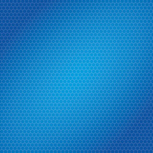 Blue Hexagon Bee Hive Shaped Background
