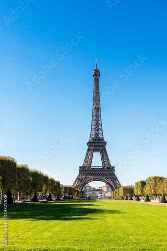 Photo  Views of Eiffel Tower from the Champ de Mars
