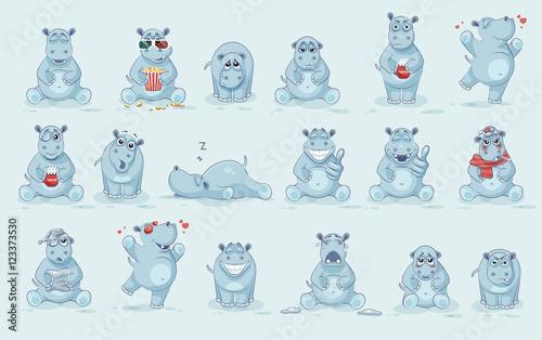 Fototapeta Set of Hippo