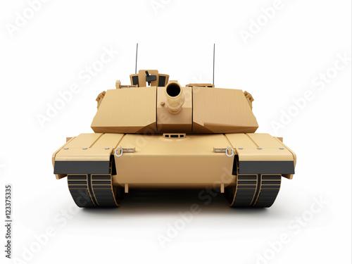 Plakat Ciężki Militarny zbiornik odizolowywający na białym tle