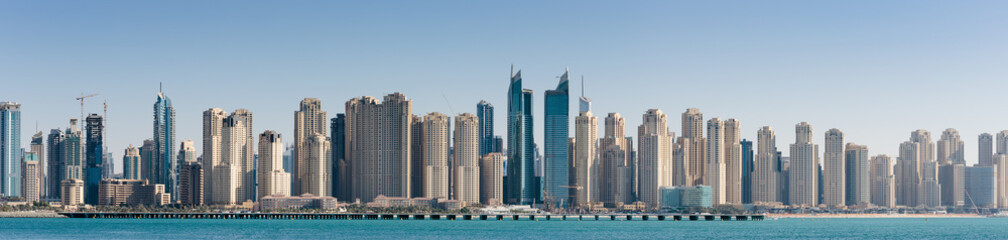 Panoramic view of the Dubai Marina UAE