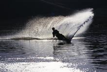 Waterskiing On Deer Creek Reservoir, Utah