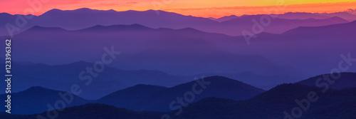 Fotobehang Bergen Blueridge Sunset