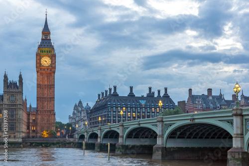 Garden Poster London Amazing Night photo of Westminster Bridge and Big Ben, London, England, United Kingdom