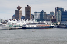Cruise Ships At Canada Place H...