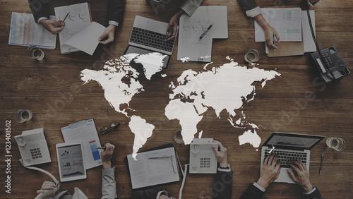 Fototapeta  World Global Cartography Globalization Earth International Conce