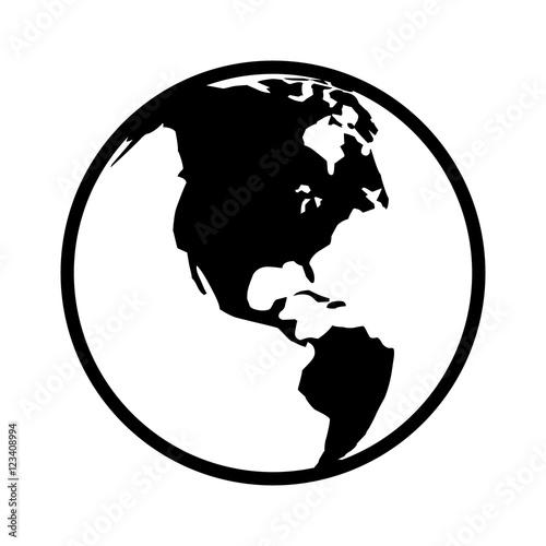 World map globe or planet earth world map line art icon for apps and world map globe or planet earth world map line art icon for apps and websites gumiabroncs Images
