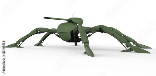 Fotografia, Obraz  scifi military droid