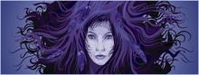 Purple Colors Mystery Female Fantasy Portrait